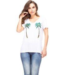 camiseta guess coqueiros - branco - feminino - dafiti
