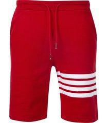 waffle ribbed logo sweat shorts,