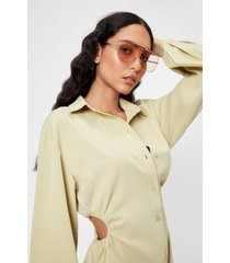 womens cry about it aviator oversized sunglasses - nude