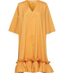 berle dress kort klänning gul holzweiler