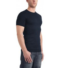 garage basic t-shirt round neck blue semi bodyfit ( art 0301)