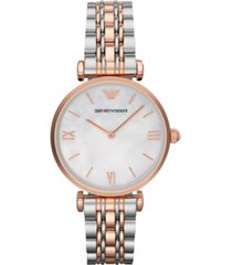 emporio armani women's two-tone stainless steel bracelet watch 32mm ar1683