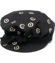 10 corso como all-over logo print hat - black