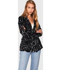 blazer glamorous negro - calce regular