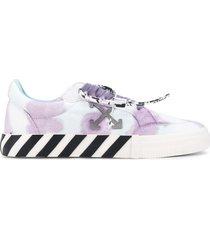 off-white vulcanized tie-dye low-top sneakers
