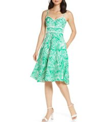 women's eliza j print fit & flare dress