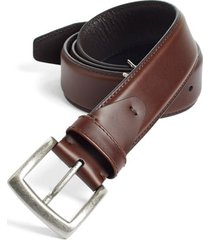 men's johnston & murphy calfskin belt, size 44 - dark brown
