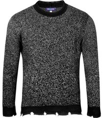 suéter cerrado bicolor cuello redondo para hombre freedom 00820