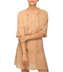 raga kenna metallic-dot dress