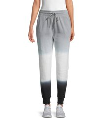splendid women's dip-dyed joggers - grey black - size xs