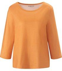 shirt 100% katoen ronde hals en 3/4-mouwen van green cotton oranje