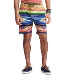 polo ralph lauren men's 7.5-inch serape-print mesh shorts