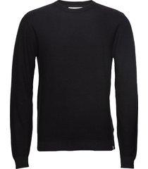 curth gebreide trui met ronde kraag zwart minimum