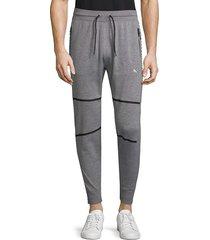 puma men's evoknit energy stripe trackster pants - grey - size m