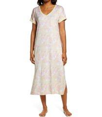 women's z well tie dye nightgown, size x-small - yellow