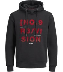jack & jones men's alphanumeric core hoodie