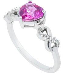 women's heart infinity ring in sterling silver