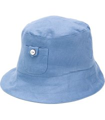 tartine et chocolat linen bucket hat - blue