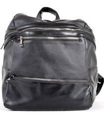 mochila bolsillo alargado negro mailea