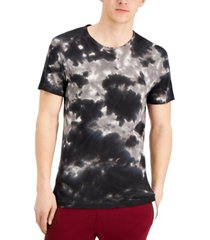 men's tie-dyed printed t-shirt