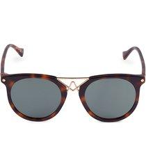 altuzarra women's 50mm round sunglasses - dark brown