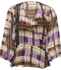 veneta blouse aop 11243 blouse lange mouwen multi/patroon samsøe samsøe