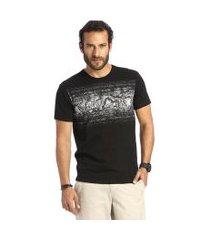 camiseta vlcs mind slim tecido diferenciado preta