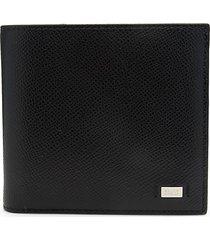 bally men's beisel leather bi-fold wallet - black