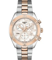 women's tissot pr 100 diamond chronograph bracelet watch, 38mm
