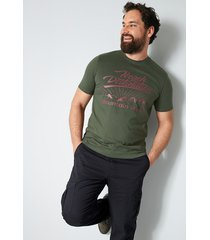t-shirt men plus mörkgrön