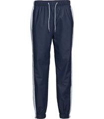 color block pants sweatpants mjukisbyxor blå rains