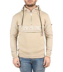 ab lifestyle anorak hoodie beige