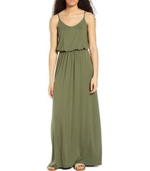 women's all in favor knit maxi dress, size medium - green