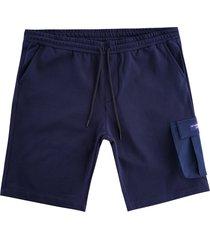 ac36 presented by prada x north sails torbay fleece bermuda shorts | blue/navy | 454008-802