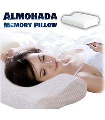 almohada en letex indeformable  memory pillow - con funda blanca