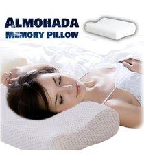 almohada en letex indeformable  memory pillow - con funda blanca