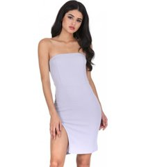 ax paris bandeau thigh split dress