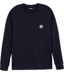 men's carhartt work in progress pocket t-shirt, size small - blue