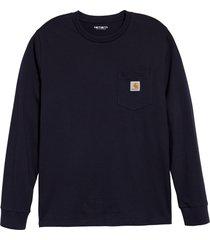 men's carhartt work in progress pocket t-shirt, size xx-large - blue