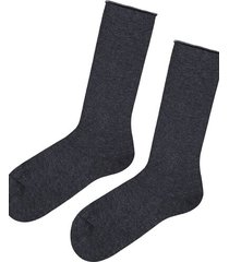 calzedonia short cuffed cotton socks, no elastic man grey size tu