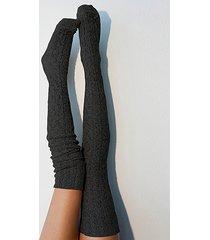 torcedura tejida sobre la rodilla calcetines