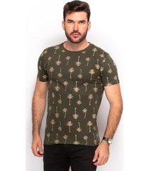 camiseta algodão teodoro masculino coqueiros slim casual - masculino