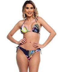 biquini cortininha asa delta com lacinhos aruba maré brasil feminino - feminino