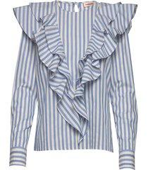 cesi blouse lange mouwen blauw custommade