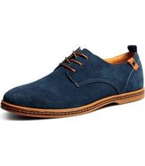 zapatillas casuales  de cuero oxfords lifeenjoy lay6242027 para hombre-azul