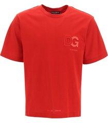 dolce & gabbana embossed monogram t-shirt