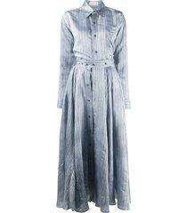 faith connexion striped suit dress - blue