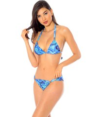 biquini mos beachwear paula azul - azul - feminino - dafiti