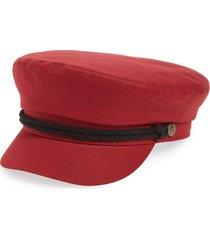 women's brixton fiddler fisherman cap - red