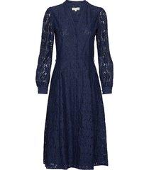 midi shirt drs jurk knielengte blauw michael kors